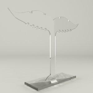 3d acrylic jewelry holder ver2