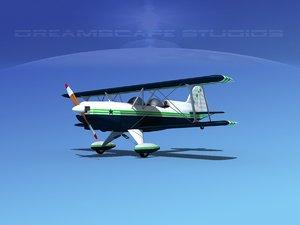 acro sport seat plane 3d 3ds