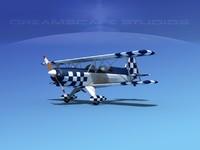 acro sport biplane ii 3d model