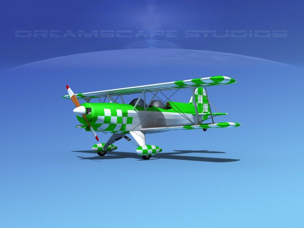 acro sport biplane ii 3d dxf