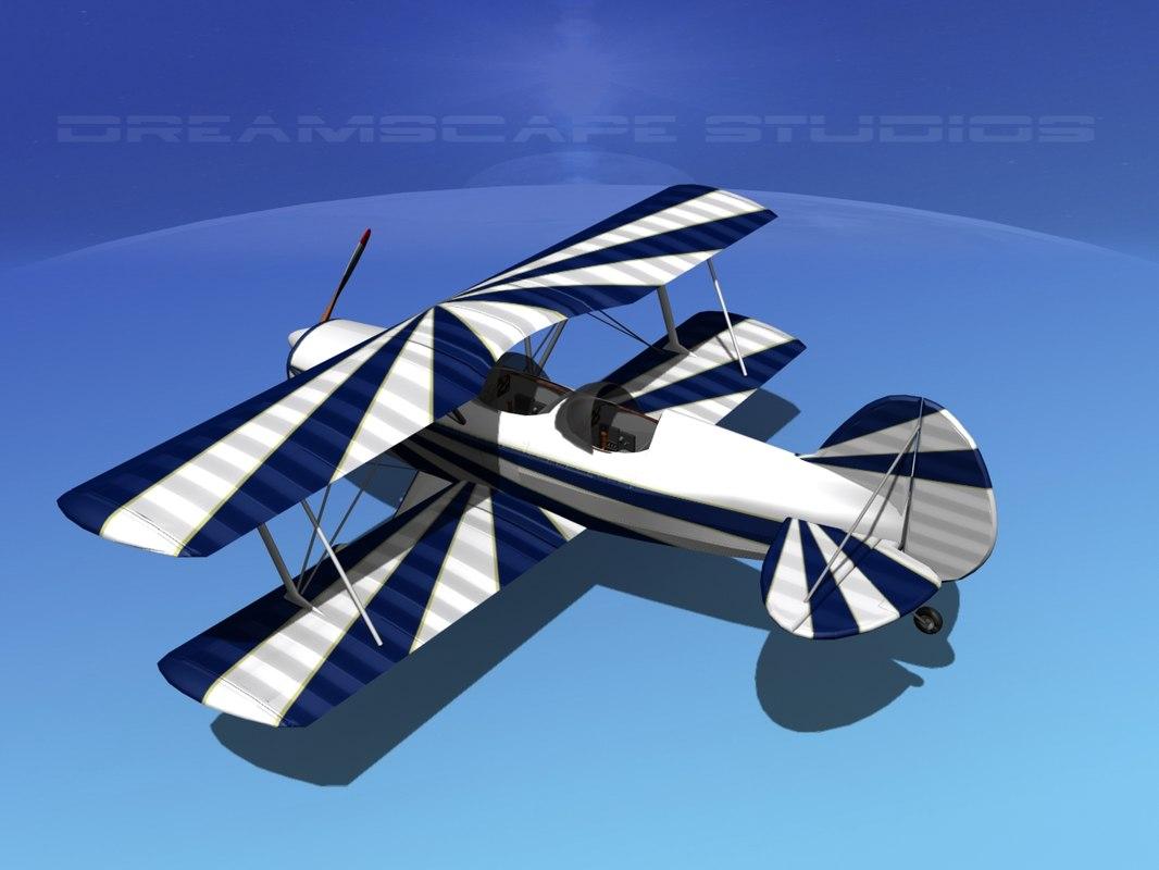 acro sport biplane ii 3d max