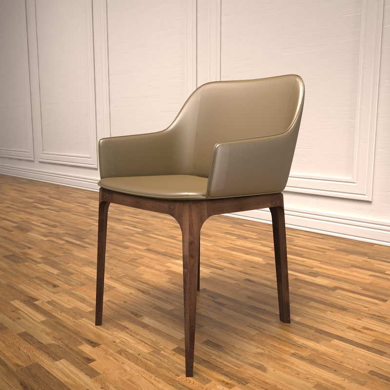 3d hotel guest chair