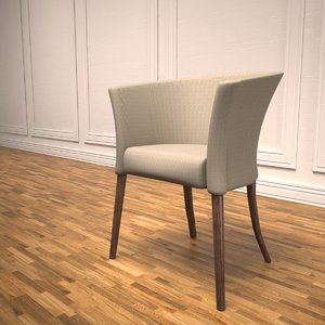 3d hotel guest chair model