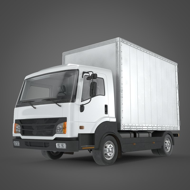 3ds max delivery truck cargo