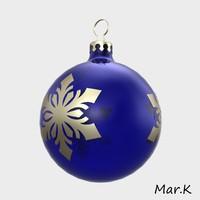 3d christmas bulb