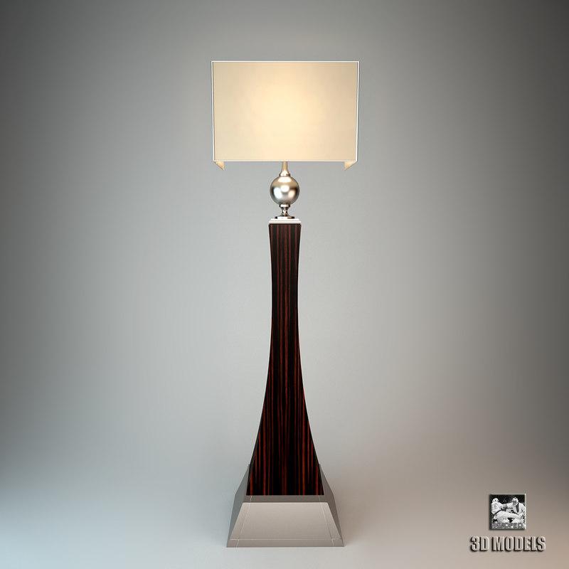 3d oak design lamp