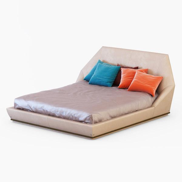 bed longhi 3d max