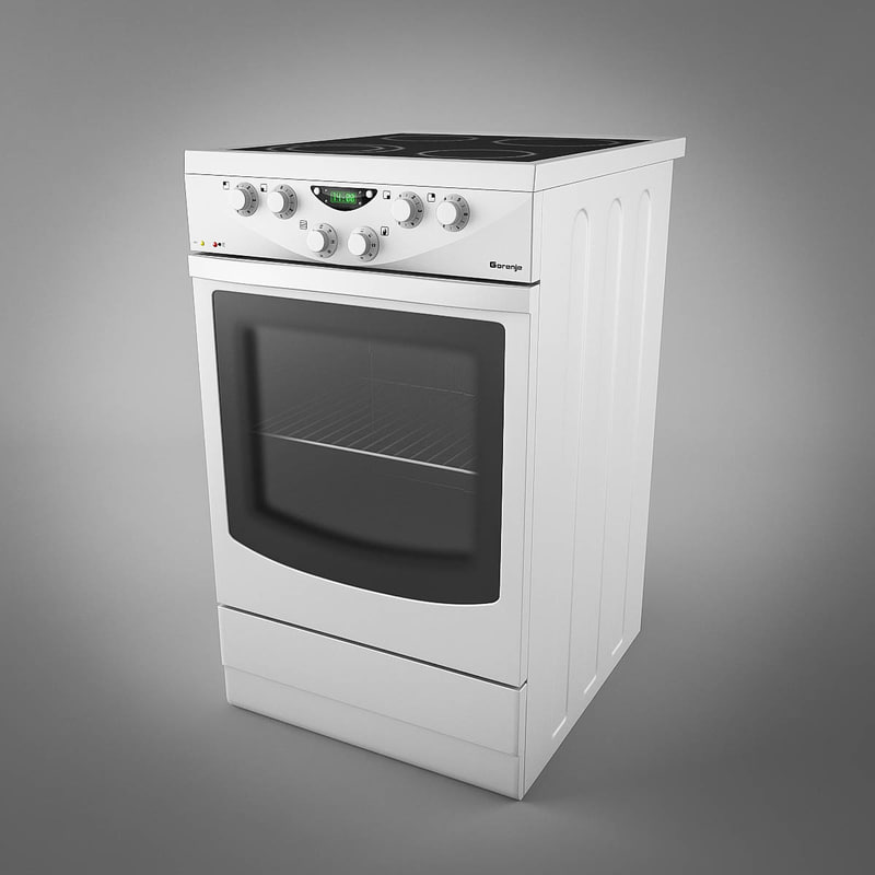 3d gorenje stove electric model