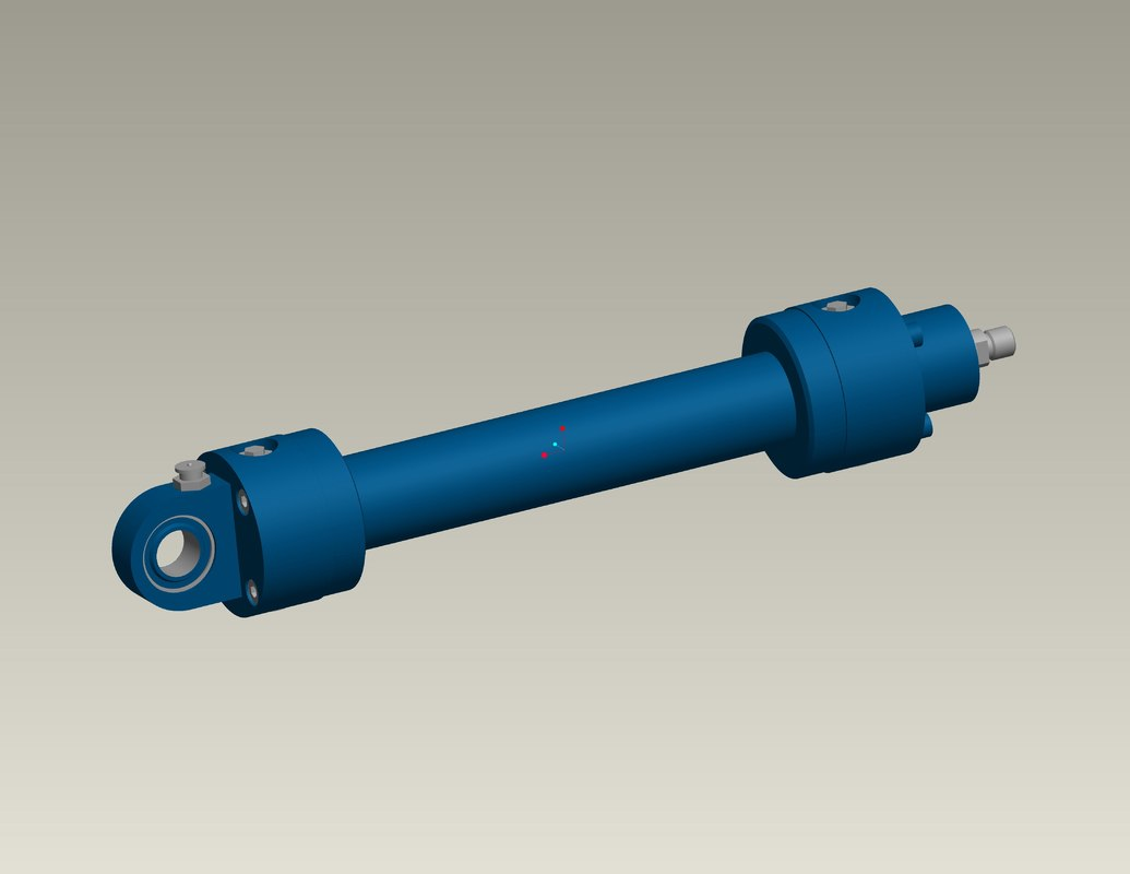 3d model of hydro cylinder
