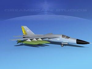 3d model bomber fb-111