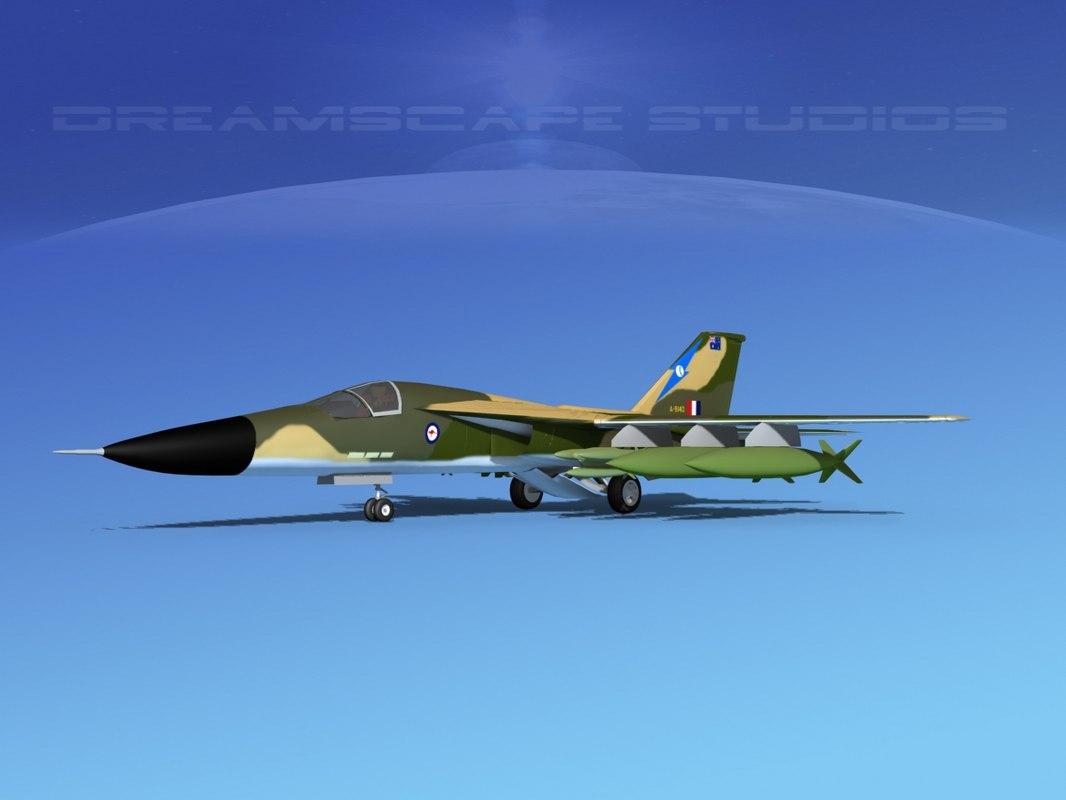 bomber fb-111 3d max