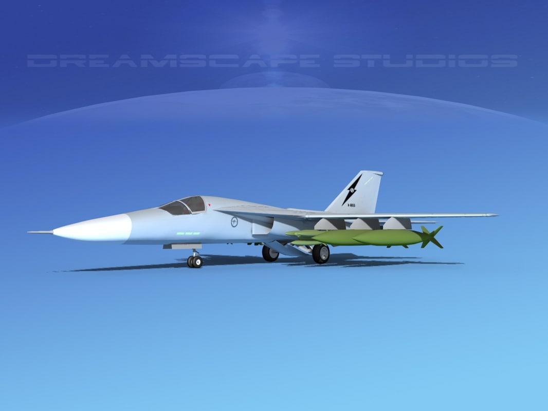 3d bomber fb-111 model