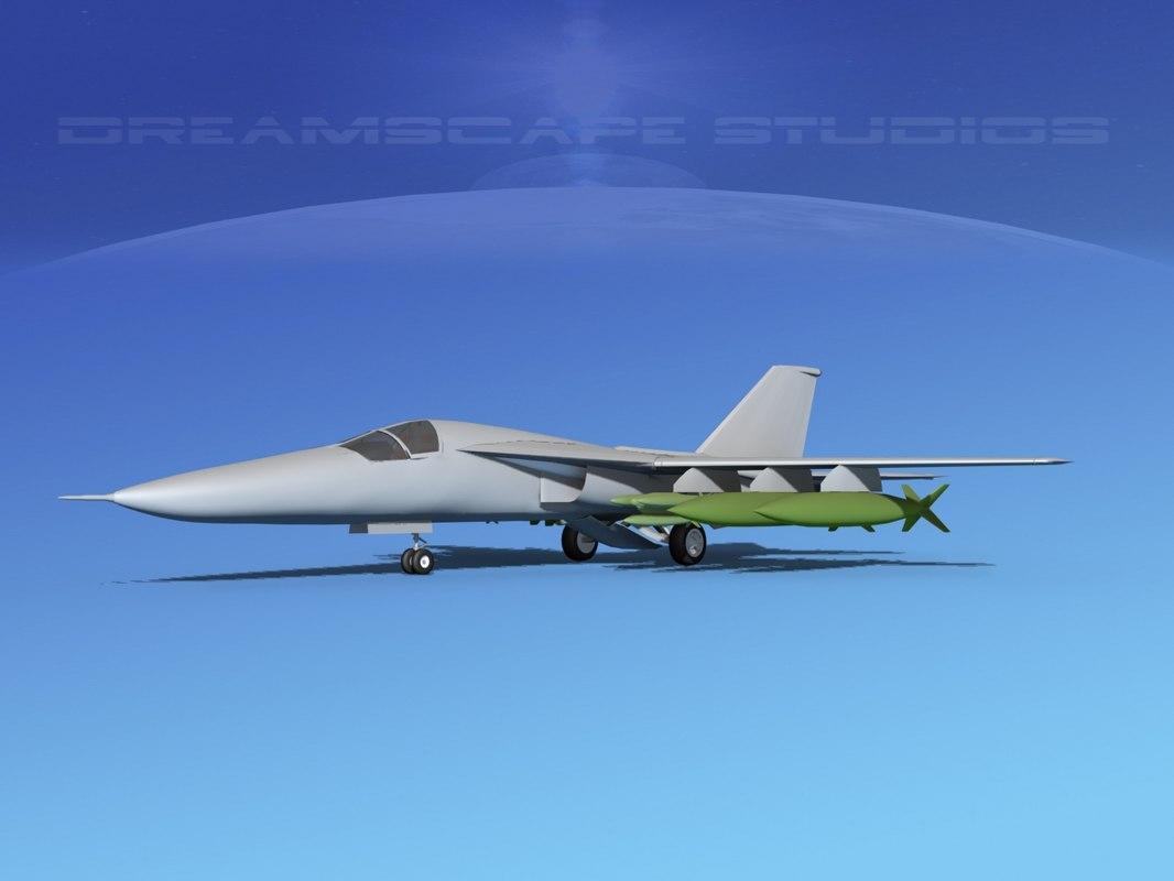 3d model bomber vbm fb-111
