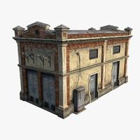 brick building fbx