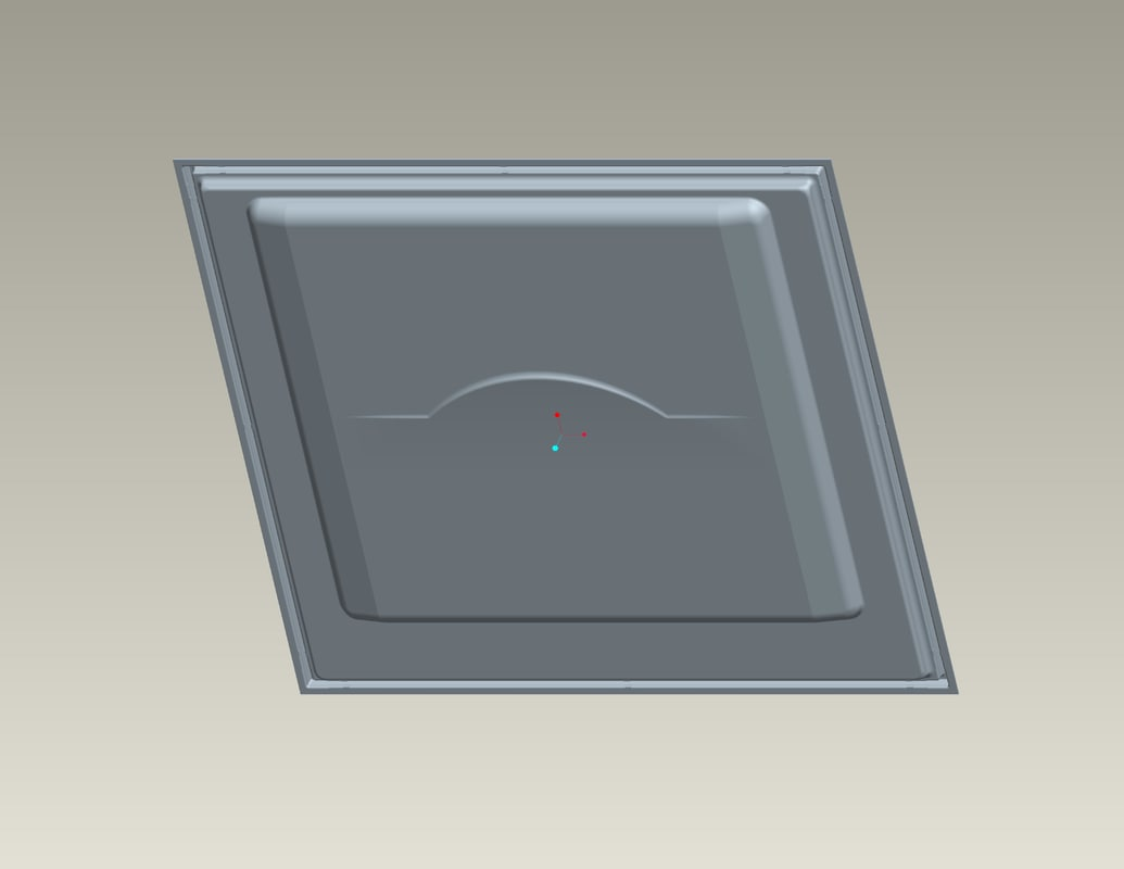 tray cover 3d obj