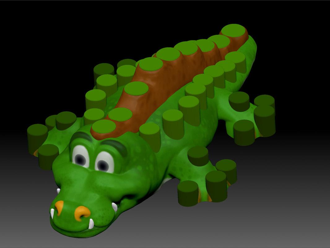 3d crocodile model