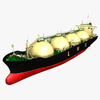 lng carrier ship 3d model