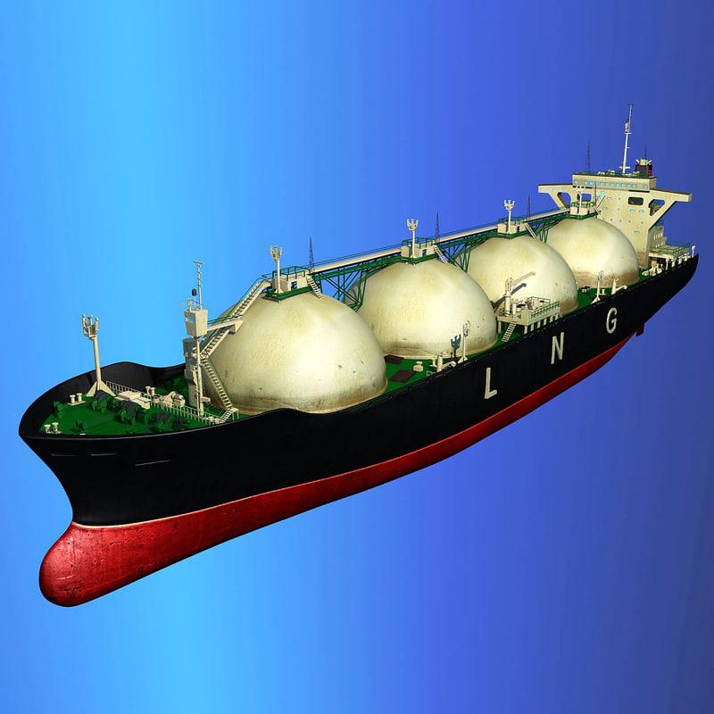 lng carrier ship 3d model