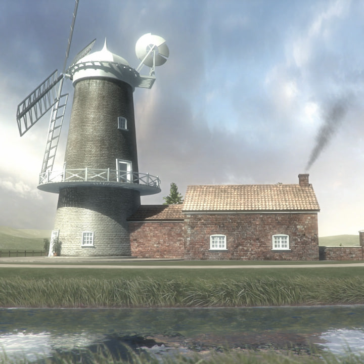 windmill house 3d model