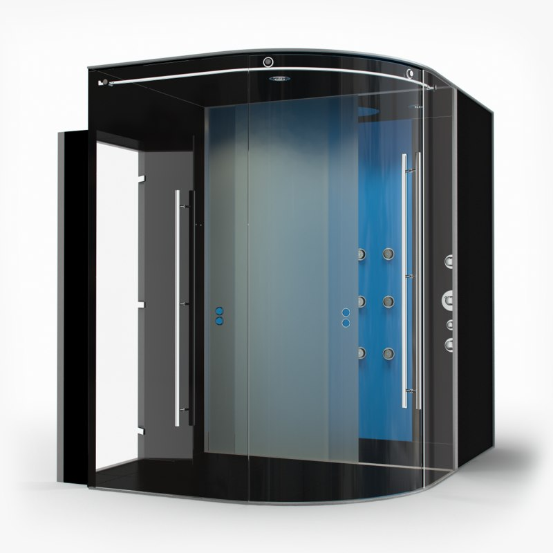 3d shower cabin hall