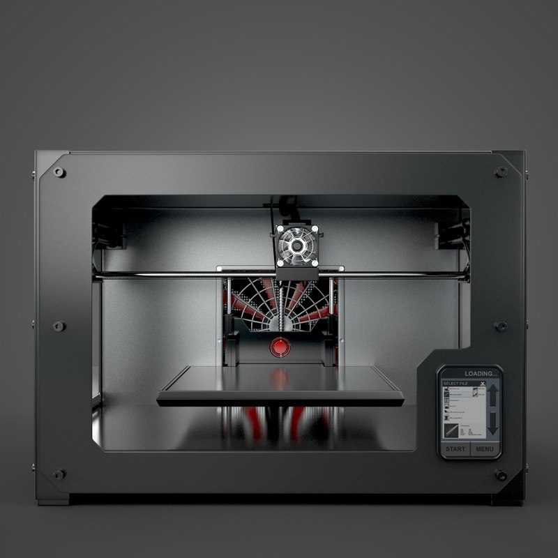 3d printer printing model