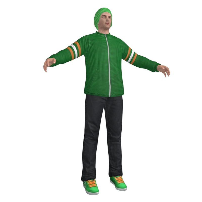 3ds max casual man