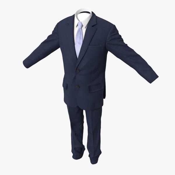 3d model men suit 8