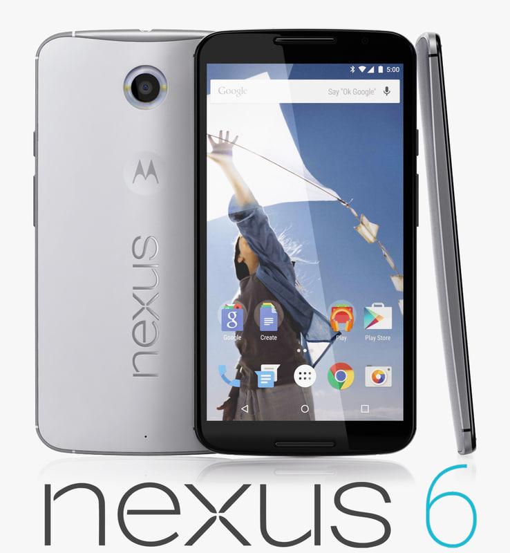 3d model google nexus 6