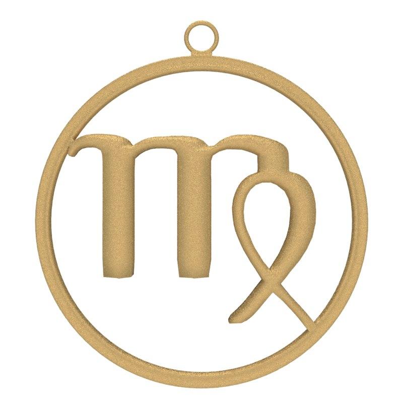 blender zodiac symbol virgo modeler