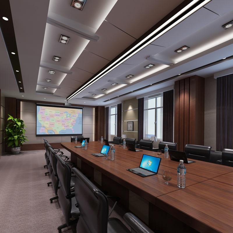 conference interior room 3d max