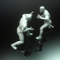 wrestler sculpture male printing obj