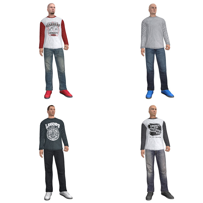 3d pack rigged casual