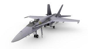 3d model f 18 a-18