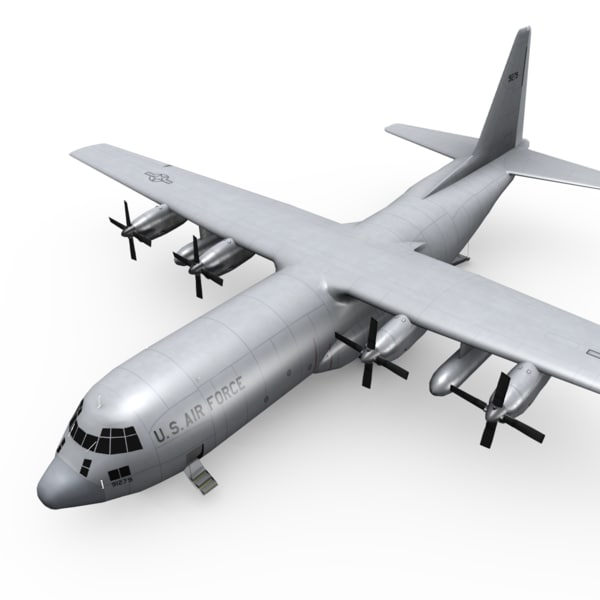 c-130 hercules transport c4d