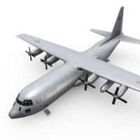 c4d c-130 hercules transport