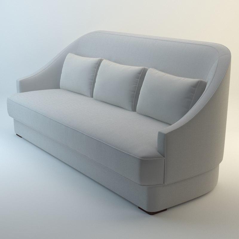 3d baker jacqueline sofa model