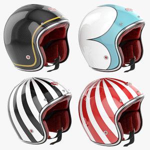 motorcycles helmet ruby 3d model