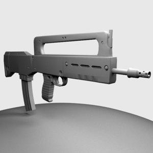 3d model gun assault rifle vhs