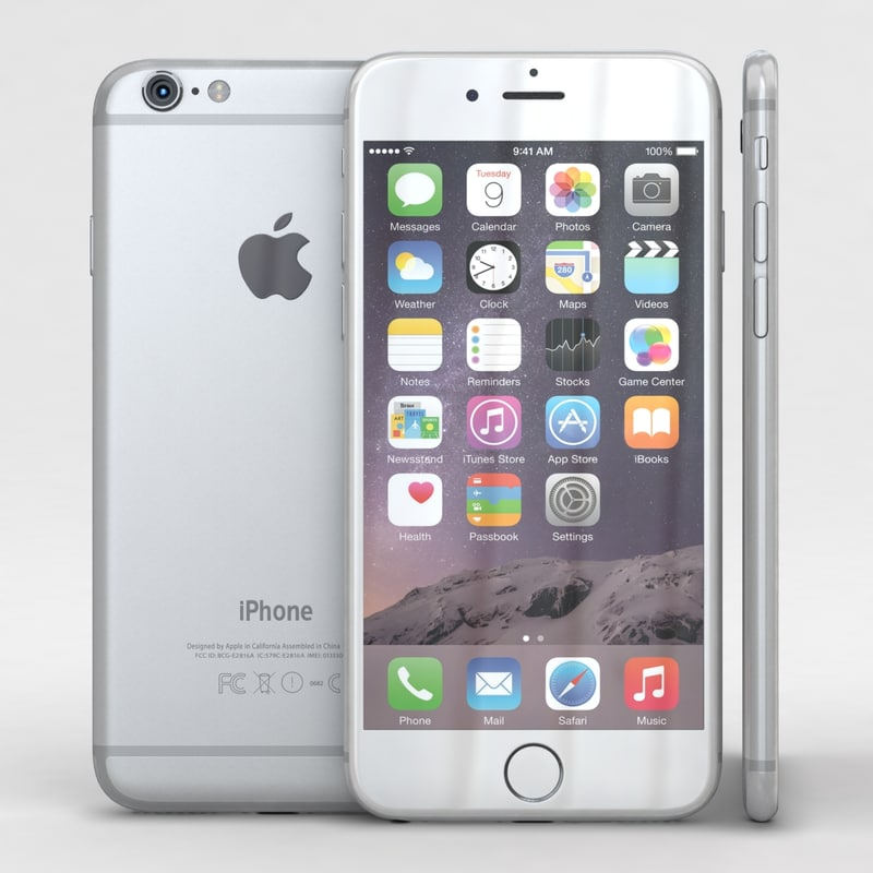 apple iphone 6 silver 3d max