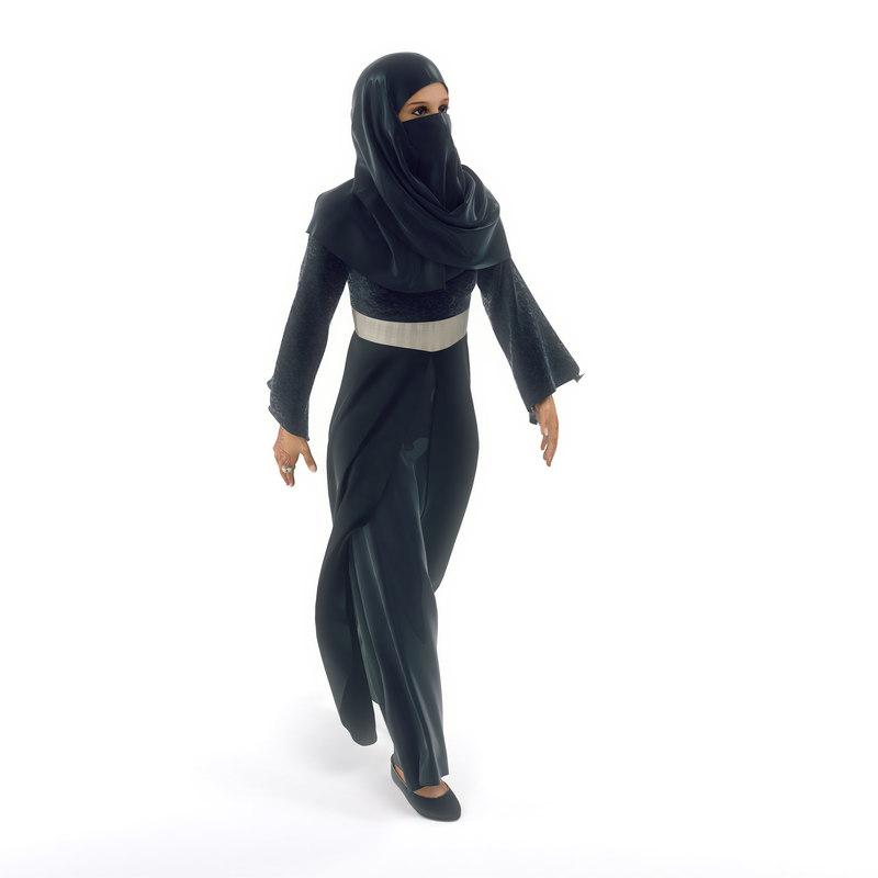 3d model of female arab