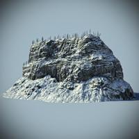 3d max snow rock