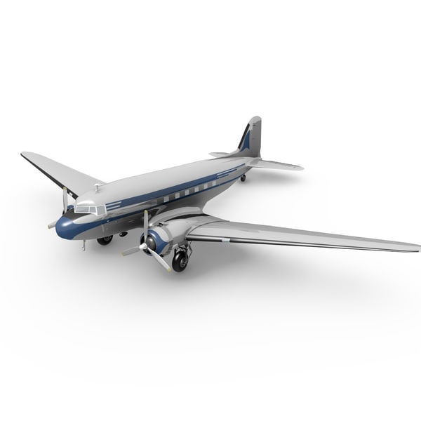dc-3 plane 3d model
