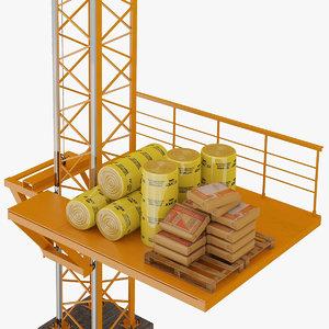 3d lift machine model