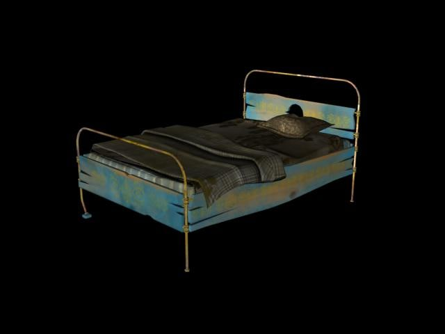 ready old rusty bed 3d max