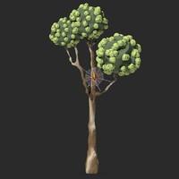 3ds max cartoon tree spider