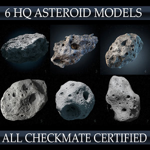 asteroids pack 3d c4d