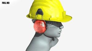 lwo helmet earmuff