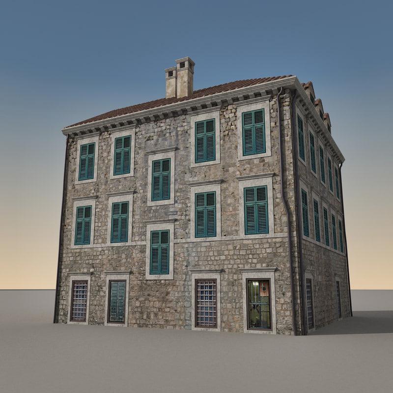 3d model of building italian