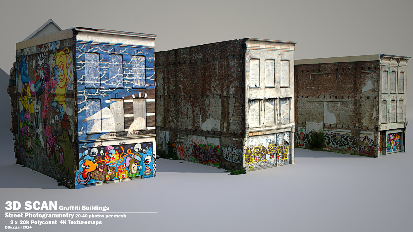 maya scan buildings grafitti