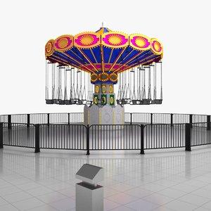 swing ride 3d model